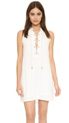 Maven West Sarna Lace Up Shift Dress Linen