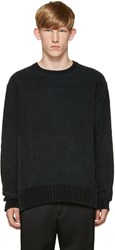 Wooyoungmi Green Knit Velour Sweater