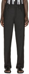 Christopher Kane Black Stretch Wool Trousers