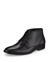 Andrew Marc New York Leather Lace Up Oxford Black Women's