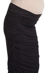 Lilac Clothing Women's Ruched Maternity Midi Skirt
