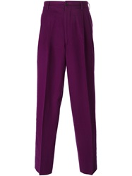 Comme Des Garcons Vintage Straight Leg Trousers Pink And Purple
