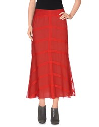 Barbara Casasola Skirts 3 4 Length Skirts Women Red