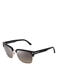 Tom Ford Polarized River Wayfarer Sunglasses Shiny Black Polarized Gray Gradient