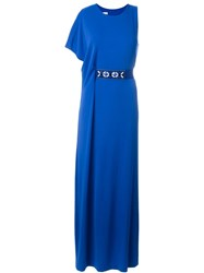 P.A.R.O.S.H. Long Belted Dress Blue