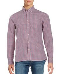 Brooks Brothers Small Gingham Sportshirt Red