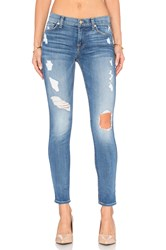 7 For All Mankind The Squiggle Destroy Skinny Stretch Blue Orchid