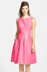 Women's Alfred Sung Dupioni Fit And Flare Dress Papaya