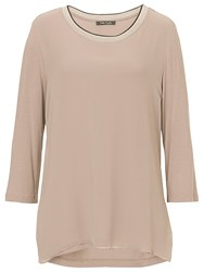 Betty Barclay Chiffon Front Jersey Top Golden Taupe