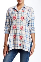 3J Workshop Plaid Embroidered Blouse Multi