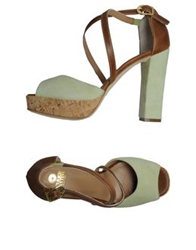 Enrico Fantini Platform Sandals Acid Green
