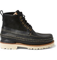 Visvim Grizzly Mid Folk Leather Boots Black