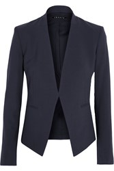 Theory Lanai Stretch Wool Crepe Blazer Navy