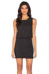 Lanston Ruched Mini Dress Charcoal