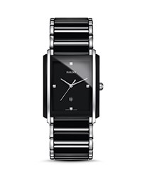 Rado Integral L Quartz Jubile High Tech Ceramic And Stainless Steel Watch With Diamonds 31Mm Black Silver