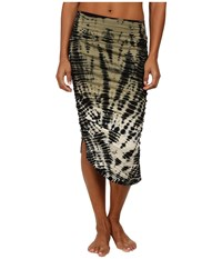 Hard Tail Shirred Poet Skirt Ombre Lizard Women's Skirt Blue