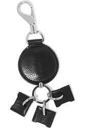 Alexander Wang Retractable Stingray Effect Leather Keychain Black