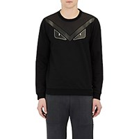 Fendi Men's Buggies French Terry Sweatshirt Black Blue Black Blue