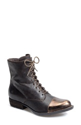 Born 'Lookis' Cap Toe Boot Women Castagno Bronze Leather