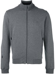 Z Zegna Zip Up Sweatshirt Grey
