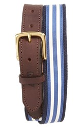 Vineyard Vines Men's Edgartown Stripe Belt White Cap