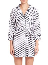 Sleepy Jones Swiss Dot Cotton Sleepshirt Navy