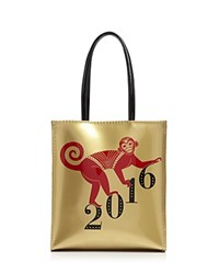 Bloomingdale's Little Monkey Tote Gold