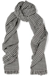 Etoile Isabel Marant Checked Wool Scarf Gray