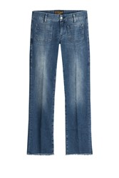 Seafarer Cropped And Flared Jeans Blue