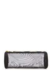 Forever 21 Mesh Makeup Pouch Black Gold