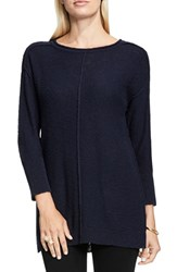 Vince Camuto Women's Two By Exposed Seam Sweater Blue Night