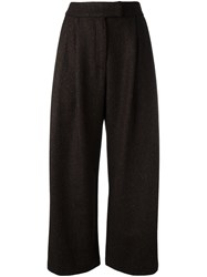 Dusan Cropped Wide Legged Trousers Brown