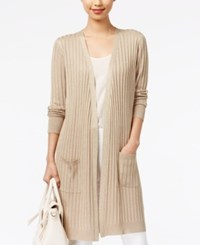 Joseph A Ribbed Metallic Duster Cardigan New Gold