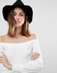 Vero Moda Plait Detail Trilby Hat Black