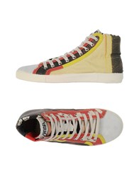 Springa Footwear High Tops And Trainers Men Light Yellow