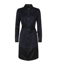 Armani Jeans Belted Shirt Dress Female Navy