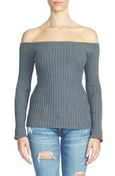 1.State Women's Ribbed Off The Shoulder Sweater