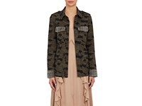 L'agence Women's Cromwell Camouflage Cotton Blend Jacket No Color