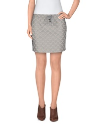 Alysi Mini Skirts Light Grey