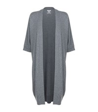 Vince Short Sleeve Cashmere Cardigan Female Grey