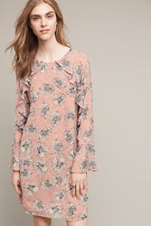 Anthropologie Blooming Hour Tunic Dress Pink