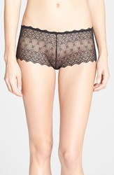 Women's Cosabella 'Papyrus' Low Rise Boyshorts Black