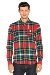 Scotch And Soda Long Sleeve Shirt Red