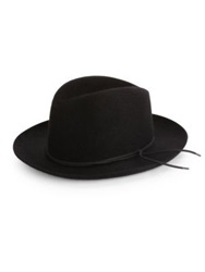 Barbisio Felted Rabbit Wide Brim Fedora Black