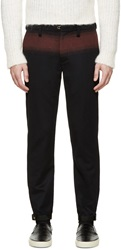 Kolor Navy And Burgundy Cashmere Trousers
