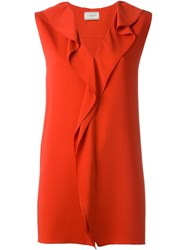 Lanvin Sleeveless Top Red