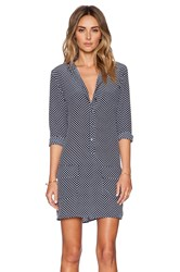 Equipment Lucida Punctual Dot Dress Navy
