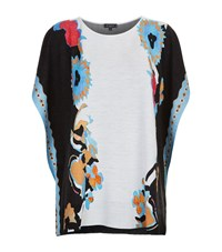 Etro Abstract Floral Poncho Female Blue