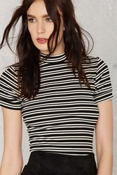 Nasty Gal After Party Vintage Joan Striped Tee