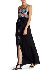 Rip Curl Myth Print Maxi Dress Black